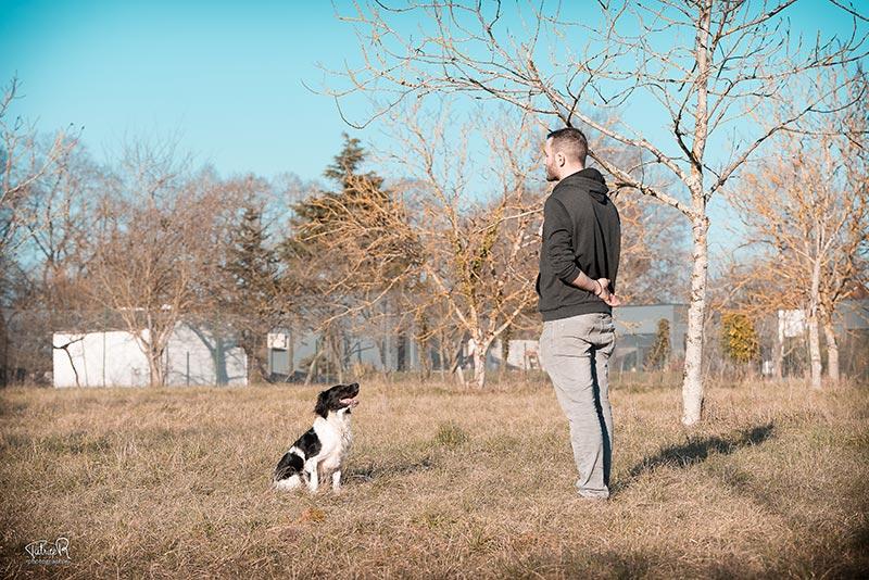 Romuald Deschodt cours d'éducation et de dressage canin